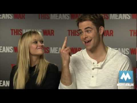 Chris Pine & Reese Witherspoon Fun interview for This Means War