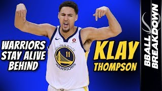 WARRIORS Stay Alive Behind Klay Thompson