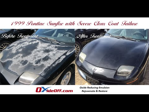 Pontiac Sunfire with Severe Clear Coat Failure and Faded Car Paint
