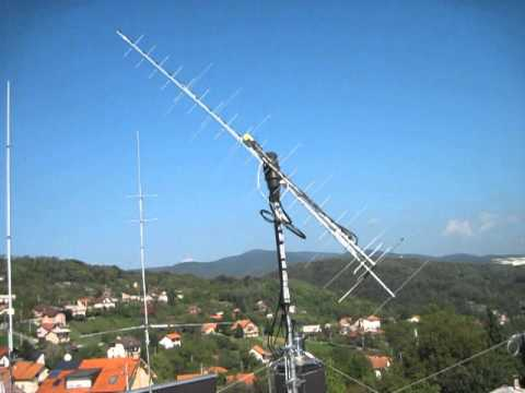Satellite antenna system with Tonna antennas and Yaesu rotator G-5500  - Neven, 9A5YY