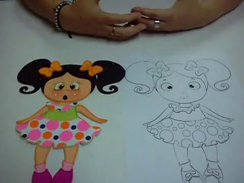 Muñeca en Foami, Goma Eva, Microporoso (5ta Parte)