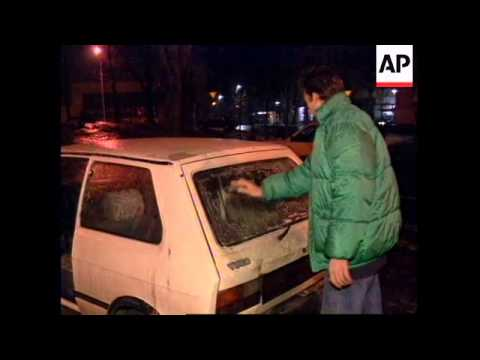SERBIA: BELGRADE: SEVERE WEATHER CONDITIONS CAUSE CHAOS