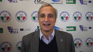 18° Yonex Italian international - Intervista a Joao Matos (VP Badminton Europe)
