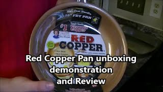 Red Copper Pan unboxing demonstration and Review