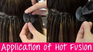 Keratin Hot Fusion Hair Extensions - Application & Information | Instant Beauty ♡
