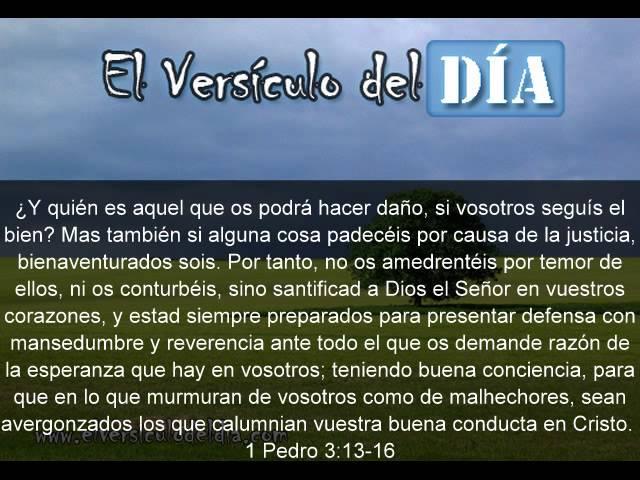 El versiculo del dia .com - 1 Pedro 3 v13-16