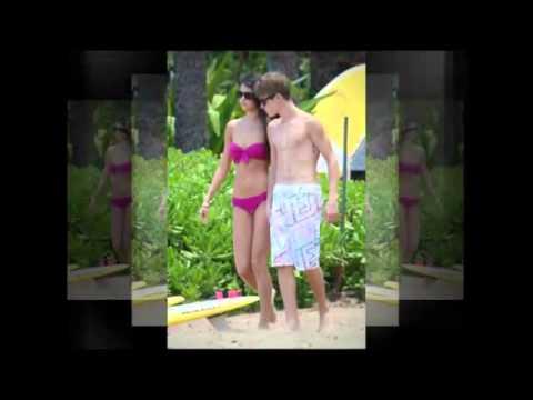 Selena Gomez in her Bikini with Justin Bieber on the Beach in Hawaii thumbnail
