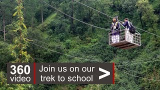 Himalayas: a Trek to School in 360 video - BBC News