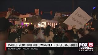 Protesters take to downtown Las Vegas on Saturday