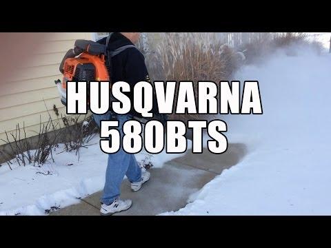 Husqvarna 580BTS BackPack Blower - Blowing 4