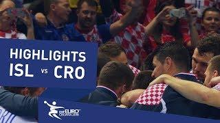 Highlights   Iceland vs Croatia   Men's EHF EURO 2018