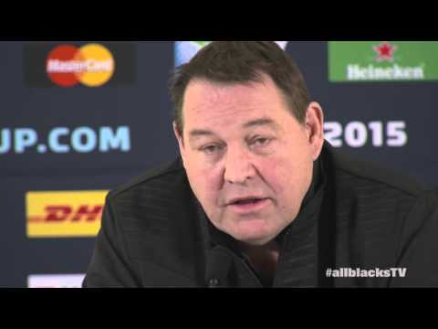 Full media conference - Steve Hansen discusses the team for #RWC2015 Final