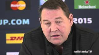 All Black coach Steve Hansen discusses the team for #RWC2015 Final | Rugby Video