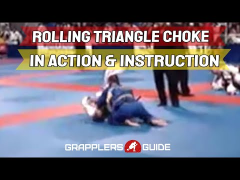 Jason Scully - BJJ Rolling Triangle Choke from Half Guard in Action and Details