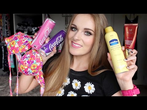My Summer Essentials ♡ Makeup, Swimsuits, Food & Drink!