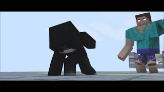 CORTO ANIMADO MINECRAFT BERSGAMER VS MUTANT HEROBRINE