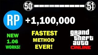 GTA V: FASTEST LEVELING GUIDE AFTER PATCH 1.10! 100 MILLION RP AN HOUR RP FARM GTA 5