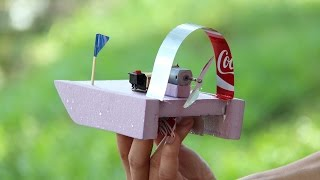 Very Simple 9v Battery Airboat DIY Mini Gear