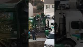 Waste Pro dumps recycling bin with trash