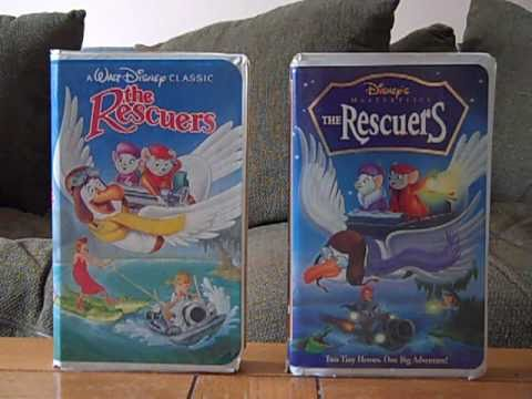 2 Different VHS Versions of The Rescuers