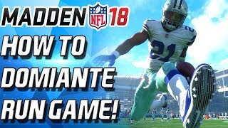 Madden 18 HOW TO DOMINATE THE RUN GAME! 3 MONEY PLAYS! BEAT ANY SOLO Madden 18 Ultimate Team MUT 18