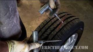 How To Plug A Tire and Check For Leaks - EricTheCarGuy