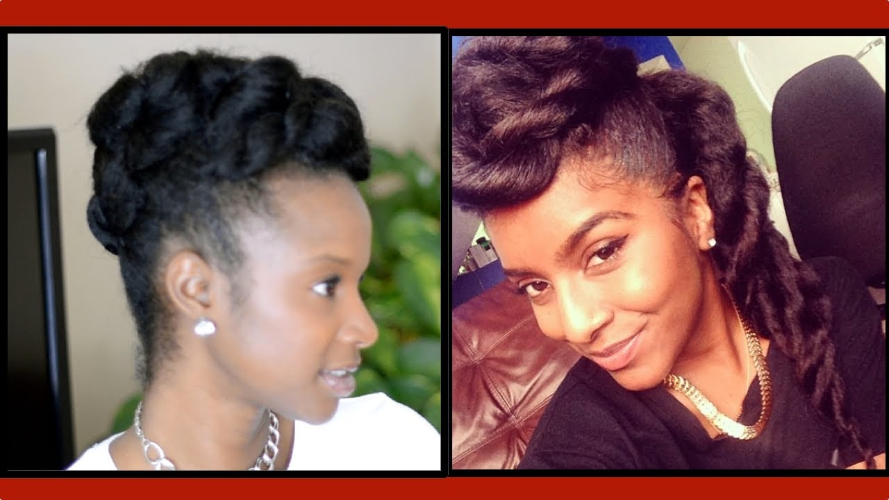 Natural Hair Chunky Two Strand Twist Updo W