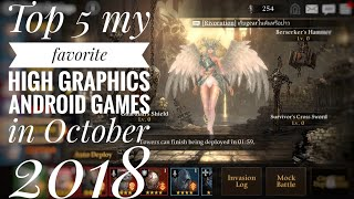 Top 5 android RPG games  in October 2018