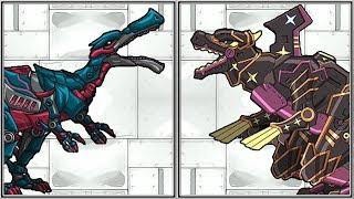 Dino Robot Baryonyx + Ninja Tyranno - Full Game Play 1080 HD