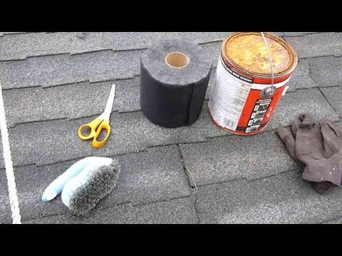 How to repair a leaky asphalt shingle roof