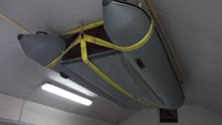 крепление лодки пвх в гараже под потолок