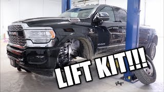 NEW LIFT ALREADY GOING ON THE 2019 RAM 3500!!!
