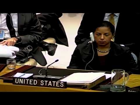 Susan Rice Storms Out of UN Secuirty Council after Veto on Action Against Syria Sparks Outrage