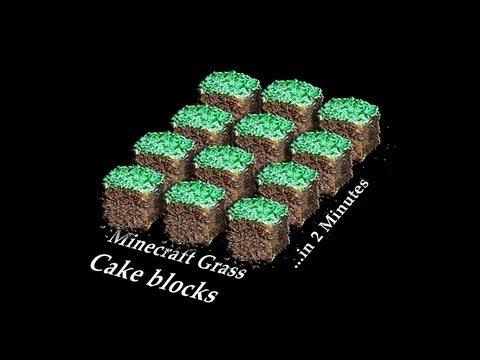 Grass Minecraft Cake