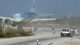 Skiathos. Dangerous Jet blast and low Landings.