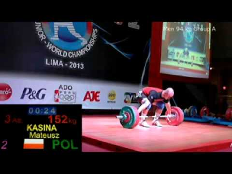 2013 Junior World Weightlifting 94 kg Snatch
