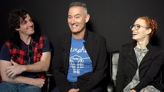 The Wiggles' Lachy Gillespie, Anthony Field & Emma Watkins