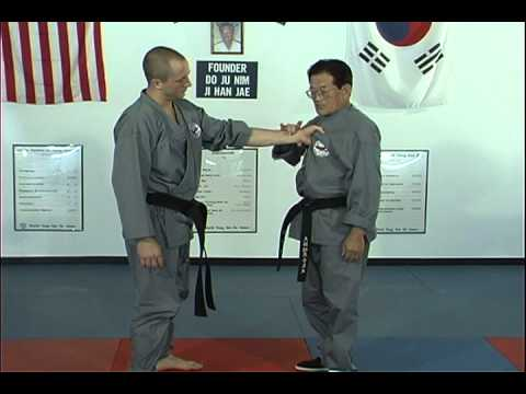 Hapkido Center Chest Grab Techniques 1 Thru 5, Ji Han Jae