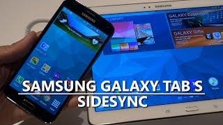 Samsung Galaxy Tab S SideSync Demo