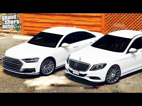 РЕАЛЬНАЯ ЖИЗНЬ В GTA 5 - НОВАЯ AUDI A8 ПРОТИВ MERCEDES S500 И BMW 740! 🌊ВОТЕР