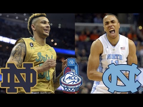 Notre Dame Vs. North Carolina 2016 ACC Basketball Tournament Preview
