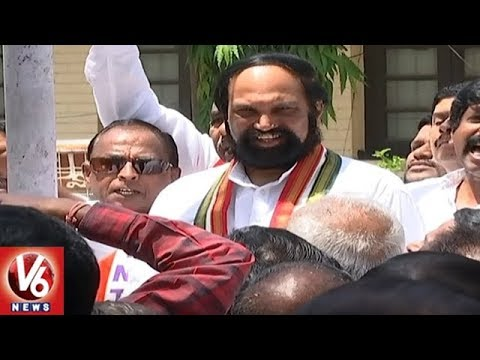 TPCC Chief Uttam Kumar Participates In May Day Celebrations At Gandhi Bhavan | V6 News