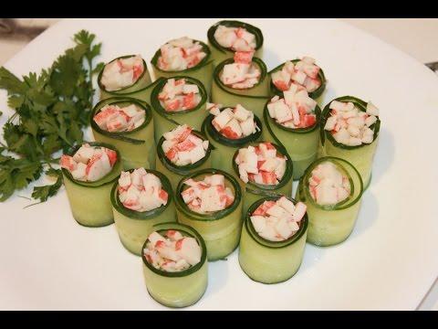 Огуречные роллы (cucumber rolls)