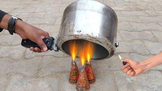 Cooker vs Anar Experiment || 3 Anar Inside Cooker || Experiment King