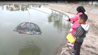 Trò Chơi Đi Bắt Cá Bằng Lưới Bát Quái | Baby channel