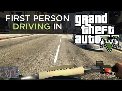 First Person Driving in GTA V - PS4 Gameplay