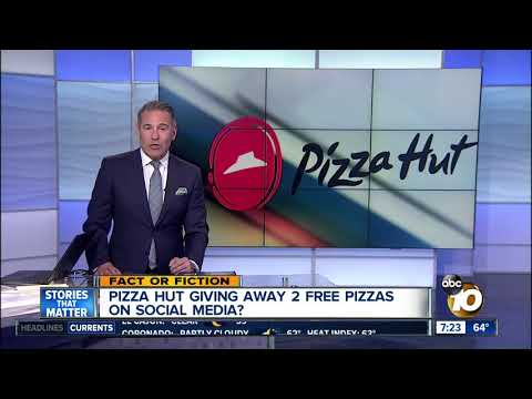 2 Free Pizzas From Pizza Hut