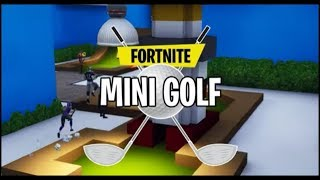 Playin fortnite mini-golf!!!!!(CODE IN DESCRIPTION)