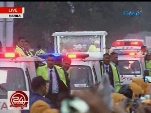 24 Oras: Pope Francis, nag-ikot sa Quirino Grandstand matapos ang kanyang huling misa
