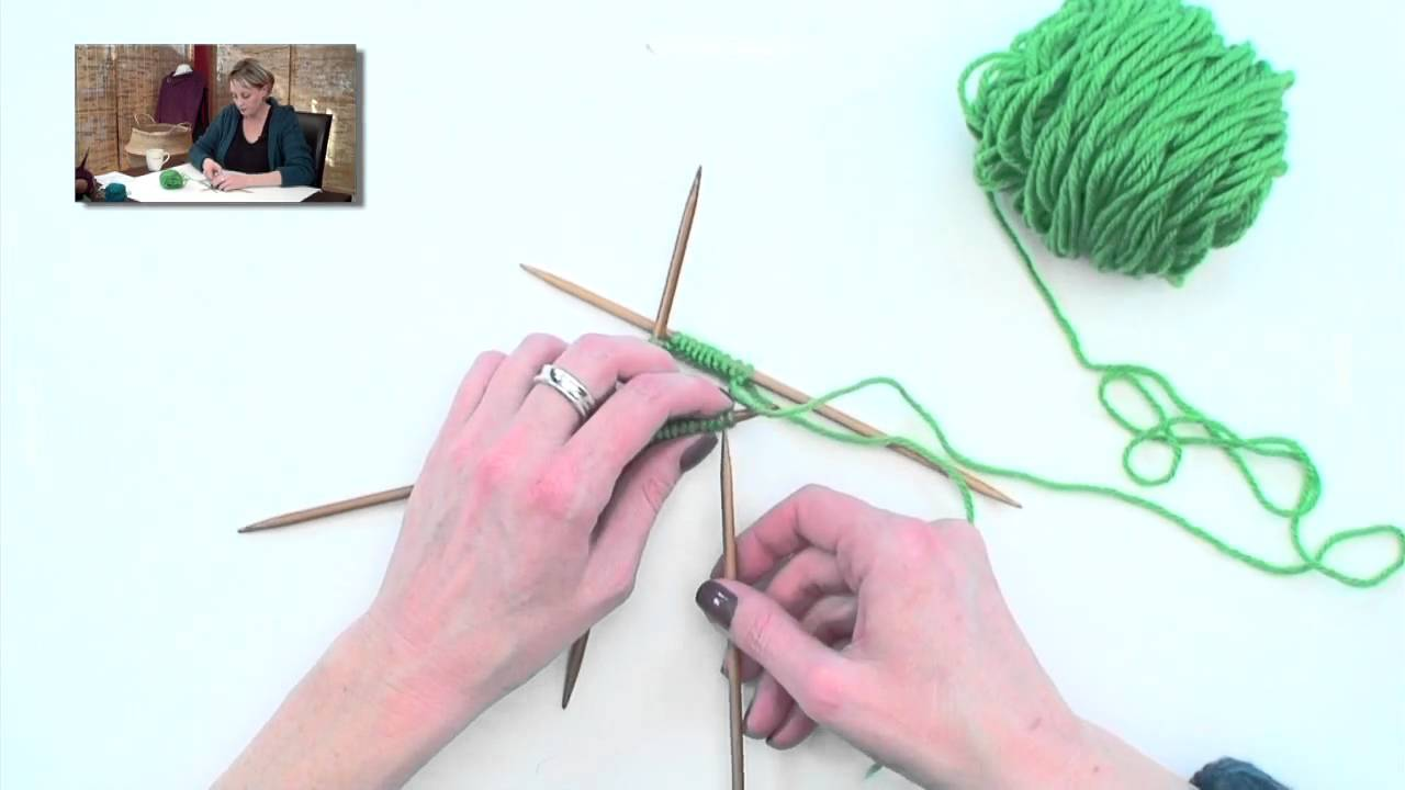 Knitting Help : Knitting Help - Getting Started with DPNs - YouTube